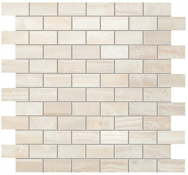 Мозаика S.O. Pure White Brick Mosaic 30,5*30,5 Глянeц